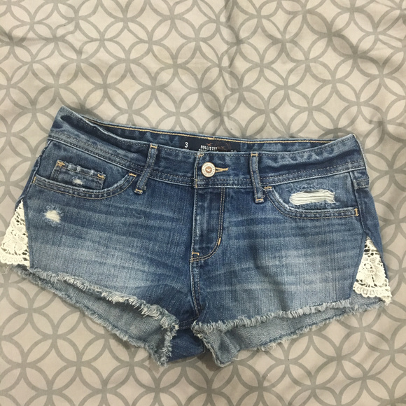 ripped shorts with lace